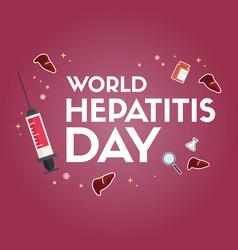 World hepatitis day greeting card vector