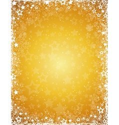 yellow grunge christmas background vector image