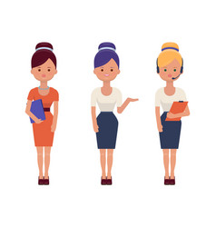 young office women in elegant clothes vector image