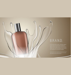 3d realistic cosmetic product bottle package vector image