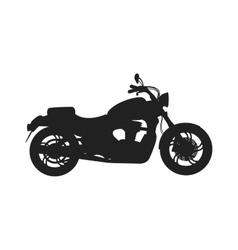 Black classic bike silhouette transport power vector image vector image