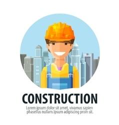 Construction company logo design template vector