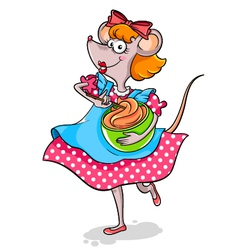 lady mouse vector image