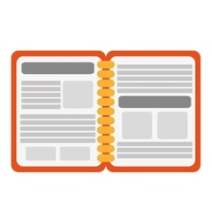 open notebook icon vector image vector image