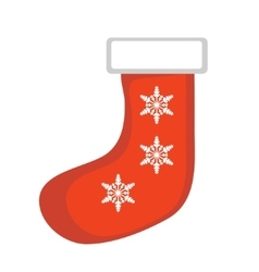 Christmas sock icon Isolated on white vector image