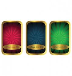 golden ornaments vector image