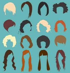 Retro Womans Hairstyle Silhouettes vector image