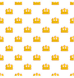 viscount crown pattern seamless vector image vector image