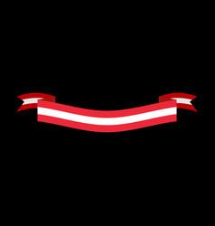 austria flag ribbon isolated austrian banner tape vector image vector image
