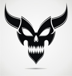 Black Demon Mask vector image vector image