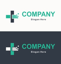 Logo for accounting company vector image vector image