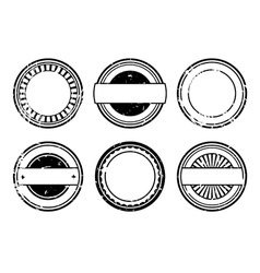set of blank black rubber stamps vector image