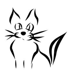 Calligraphy cat vector image
