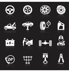 Car service maintenance white icon vector image