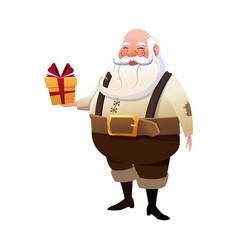 character santa claus christmas hoding gift box vector image vector image