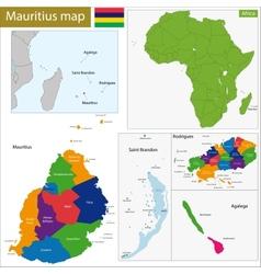 Mauritius map vector image