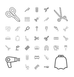 37 hairdresser icons vector