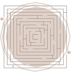 Abstract maze vector