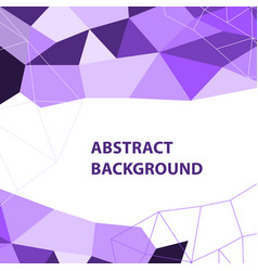 Abstract purple geometric background with polygon vector