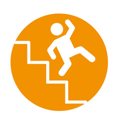 accident on ladder insurance icon vector image