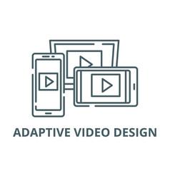 adaptive video design line icon adaptive vector image