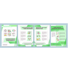 Agribusiness component brochure template vector