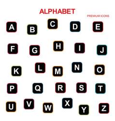 Alphabets icons set vector