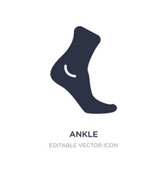 Ankle icon on white background simple element vector
