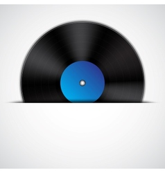Background with vinyl record vector image