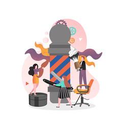 barbershop concept for web banner website vector image