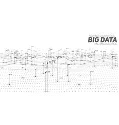 Big data grayscale plot vector