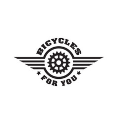 Bike badge vintage style vector