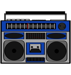 Boom box vector image