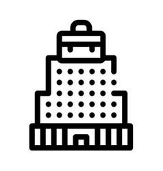 Building skyscraper business center icon vector