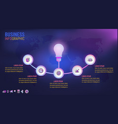 Business info graphics template idea concepts vector