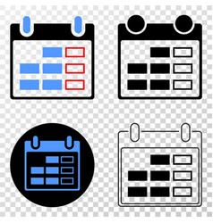 calendar page eps icon with contour version vector image
