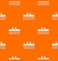 Canoeing pattern seamless vector