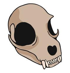 cat skull cartoon motif set vector image