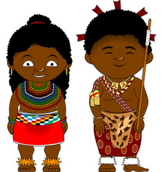 Cheerful african couple from swaziland vector