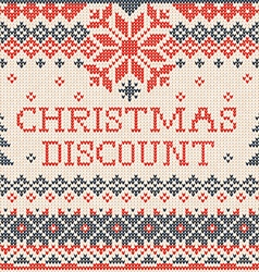Christmas discount Scandinavian or russian style vector image