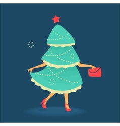 Christmas tree symbol vector image