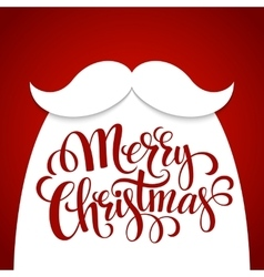 Christmas Typographic Background Santa Beard vector image
