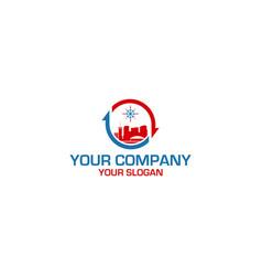 City hvac logo design vector
