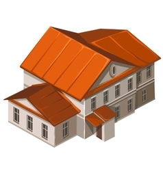 Classic building of municipal institution vector image