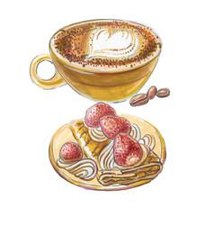 coffee marochino cake delices de paris vector image