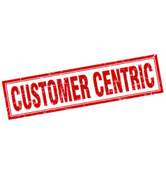 Customer centric square stamp vector