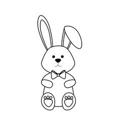Cute easter bunny icon vector