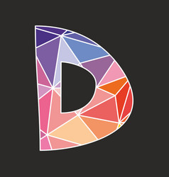 D low poly wrapping surface pastel colorful vector
