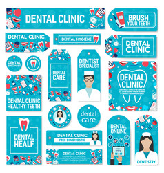 Dental care clinic and dentistry medicine vector