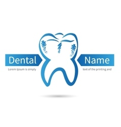 Design dental logos vector image